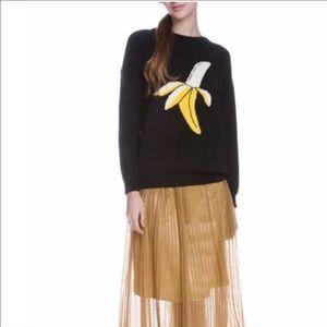 English factory banana crew neck long sleeve